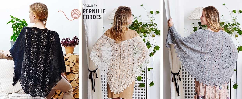 Lacesjaler designet af Pernille Cordes<br>