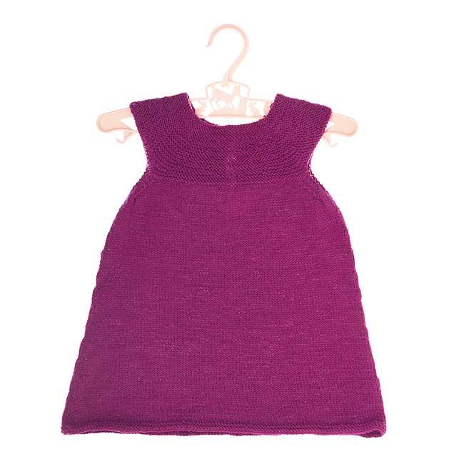 299d3e015e97 Babykjole med rundt bærestykke str ½-1½ år