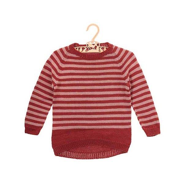 Emma sweater med striber - strikkeopskrift til download
