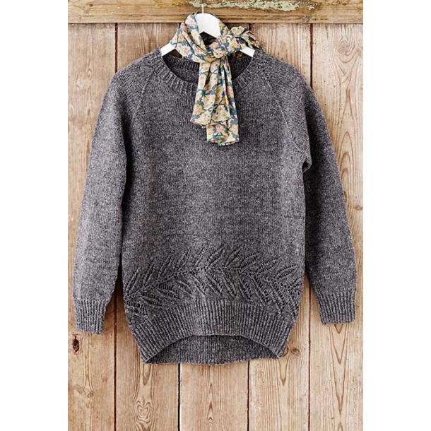 Celeste sweater med bladbort - strikkeopskrift download