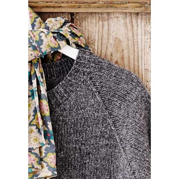 Celeste sweater med bladbort - garnkit str. S/M