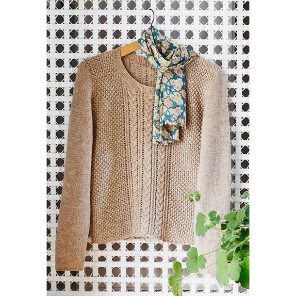 Enya Bluse med snoninger - strikkekit