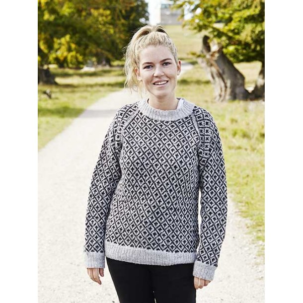 Færøsk Sweater Dame i Englegarn Merino - str XL