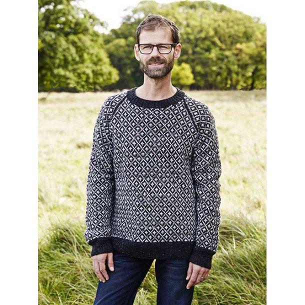 Færøsk Herre Sweater i Englegarn Merino II - L
