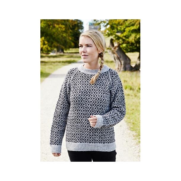 Færøsk Sweater Dame - strikkeopskrift til download