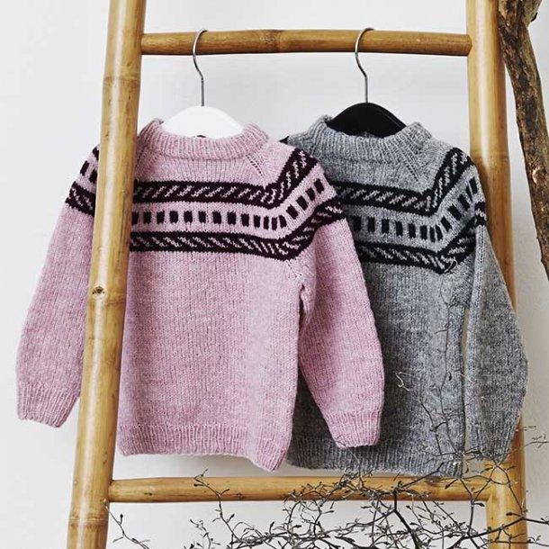 Fair Isle Babysweater - strikkekit ½-1 år