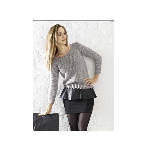 Damesweater med bobler - strikkeopskrift fås også som gratis download