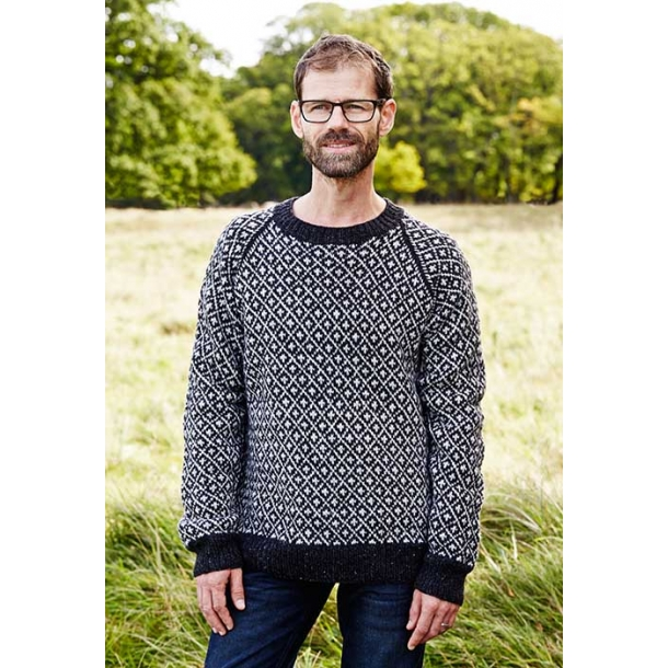 Færøsk Herre Sweater - strikkeopskrift download