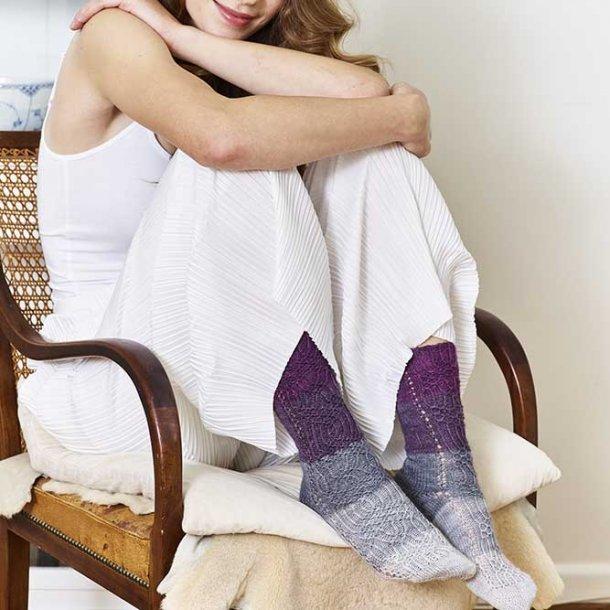 Iris Dip-Dye strømper - garnkit