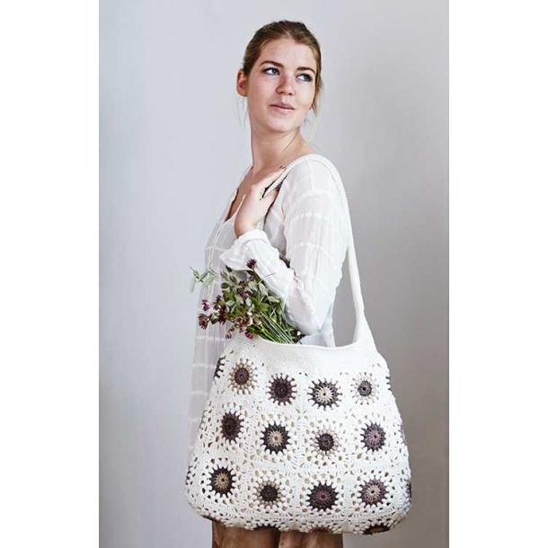 Marea hæklet taske med blomster - hækleopskrift download