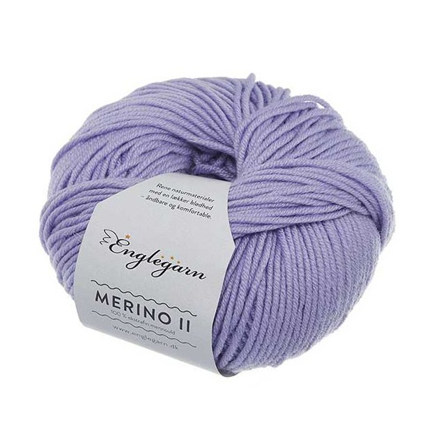 Englegarn Merino II Lavendel 180 100 - 125 m 3½-4½ mm 18 - 20 m