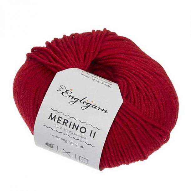 Englegarn Merino II Rød 246 100 - 125 m 3½-4½ mm 18 - 20 m