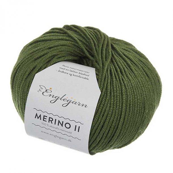 Englegarn Merino II Støvet Grøn 278 100 - 125 m 3½-4½ mm 18 - 20 m