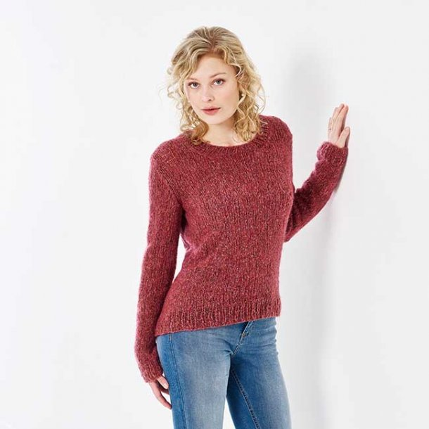 Millou Fluffy Sweater med dyp - str M