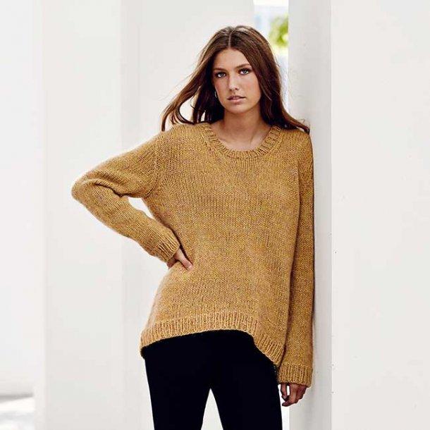 Millou Sweater med dyp - strikkeopskrift til download