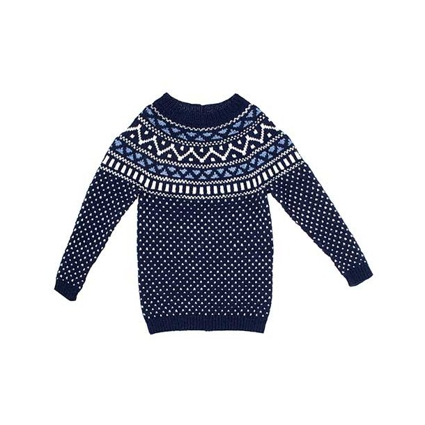 Retro Sweater - strikkekit 12 år