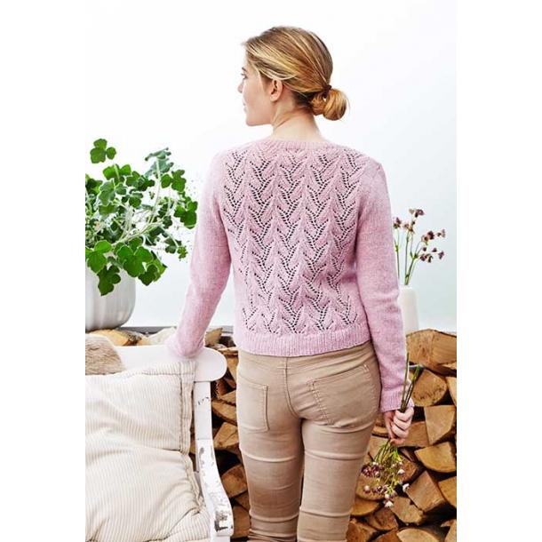 Rianne cardigan med hulmønsterryg - strikkekit
