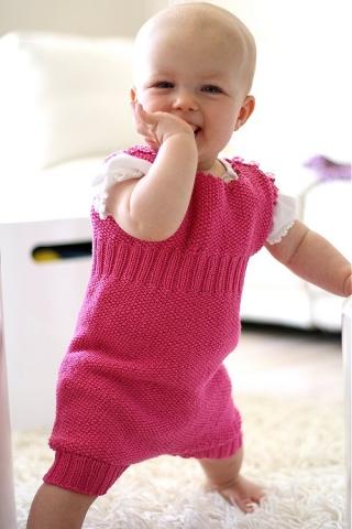 sparkedragt baby strikkeopskrift
