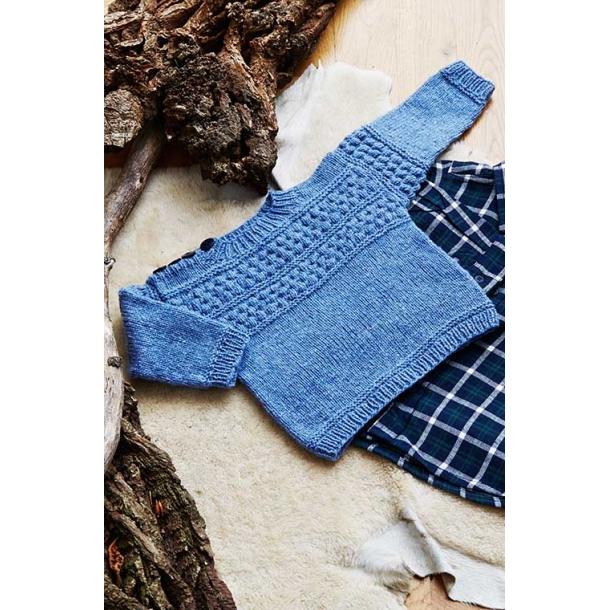 Sømandssweater Baby - strikkekit