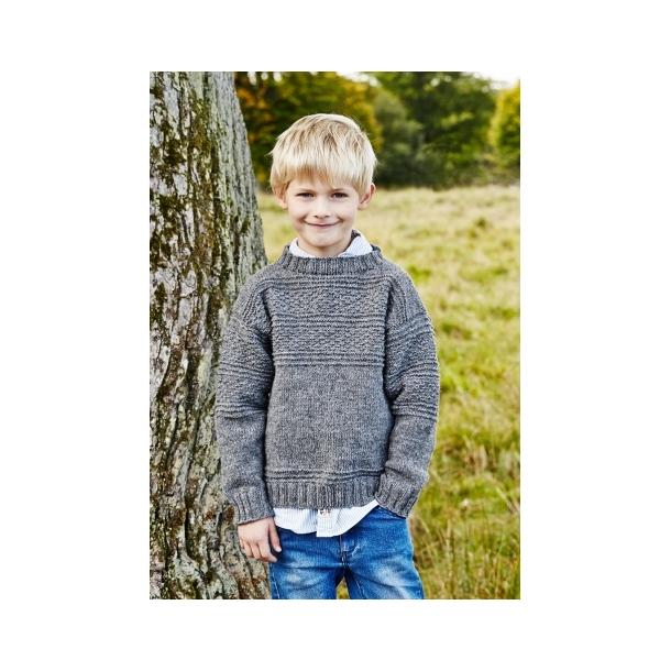 Sømandssweater Junior - strikkekit str. 12 år
