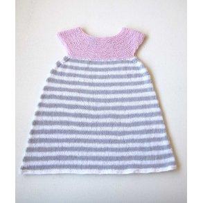 8c498de1e626 Stribet Babykjole med rundt bærestykke - str 0 - 1 år