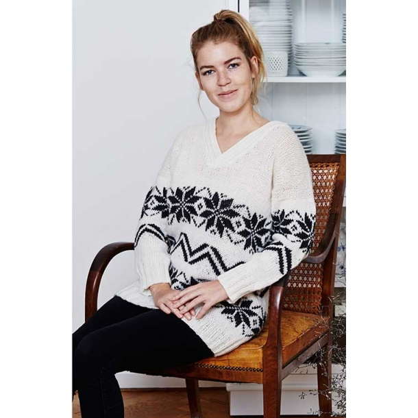 Liv Norsk Stjernesweater - strikkeopskrift til download