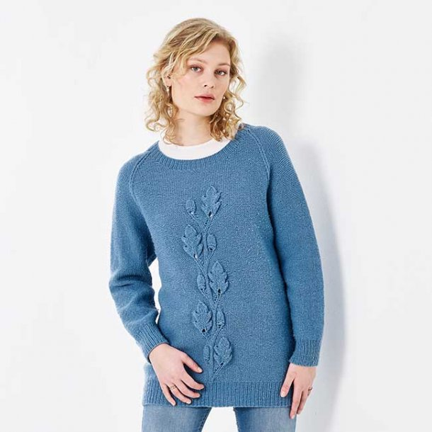 Vine Leaf Sweater - garnkit str. XXL