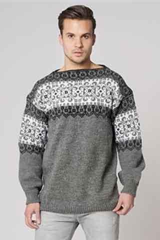 f1835568 Strikkeopskrifter til mænd - sweaters og jakker til ham