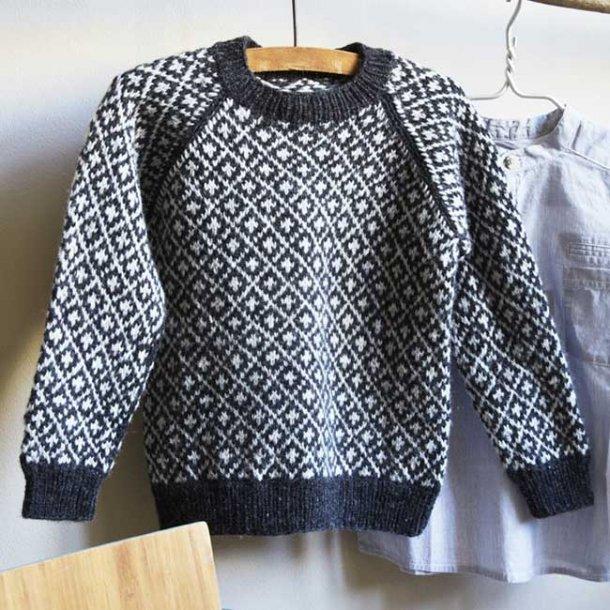 Færøsk Sweater Junior - Strikkeopskrift til download