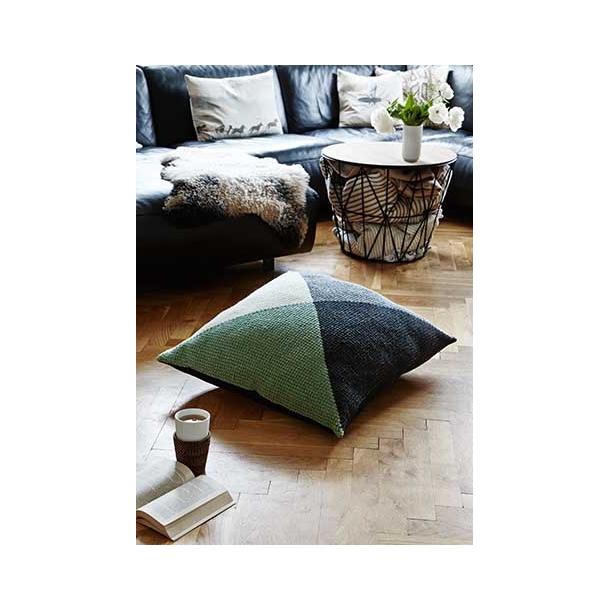 Gulvpude med trekanter - tunesisk hæklekit