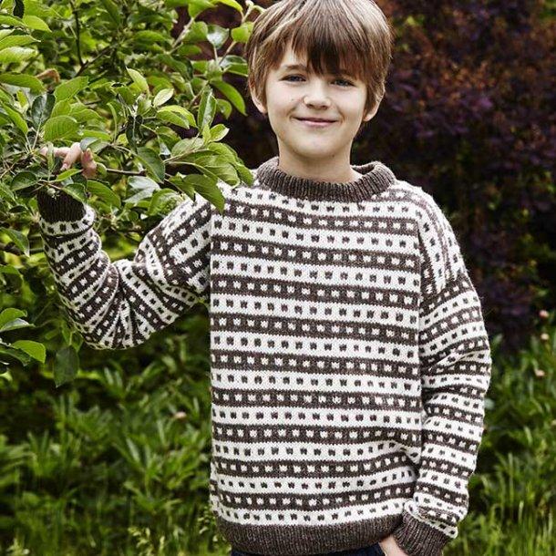 Islandsk Sweater til børn - strikkeopskrift til download