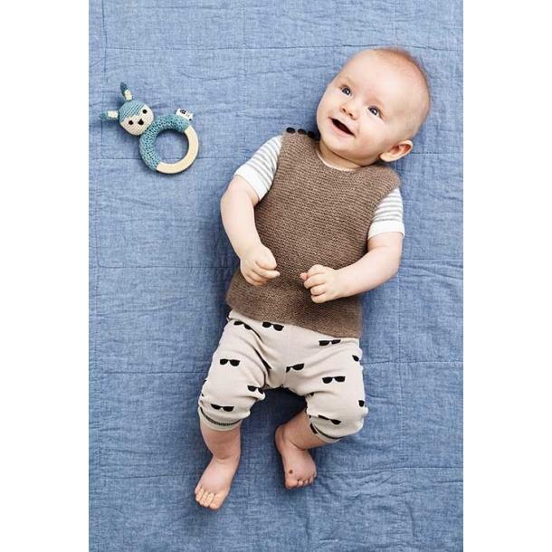 Retstrikket Babyvest - strikkekit